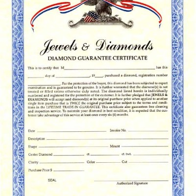 Jewels & Diamonds™ Diamond Guarantee